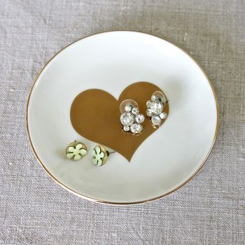 Heart Ceramic Trinket Dish