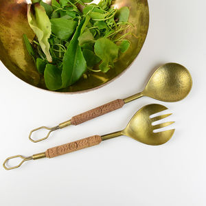 Salad Server Set - wooden spoons