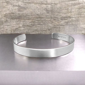 Handmade Men's Solid Silver Bracelet - gifts for him
