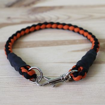 Personalised Rope Style Paracord Dog Collar