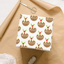 Christmas Pudding Personalised Wrapping Paper