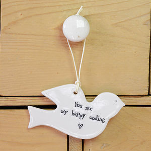 'You Are My Happy Ending' Dove Keepsake - home accessories
