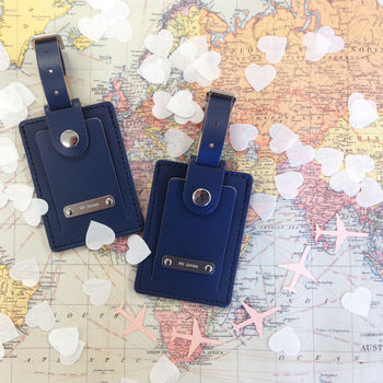 Personalised His And His Luggage Tags