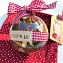 Personalised Cat Treat Bauble