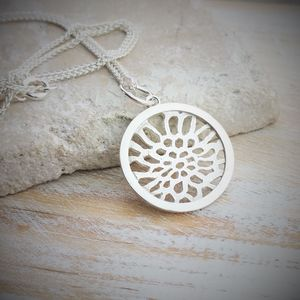 Sea Of Life Silver Charm And Necklace - charm jewellery