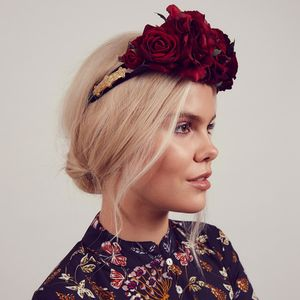 Beatrice Red Rose Baroque Crown