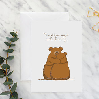 Bears 'Thought You Might Need A Hug' Card