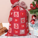 Fabric Christmas Gift Sack And Advent Calendar