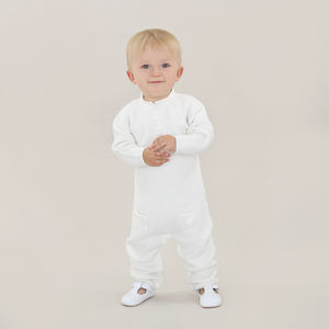 Baby French Designer Cashmere And Cotton Romper - babygrows