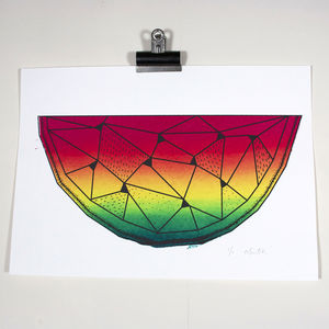 Geometric Watermelon Screenprint - what's new