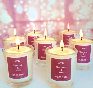 Personalised Name Wedding Favour Candles - summer wedding