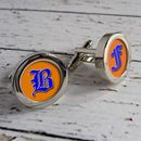 Personalised Decorative Initial Cufflinks