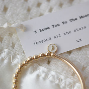 Moon And Back 14k Gold Filled Christening Bracelet - christening jewellery