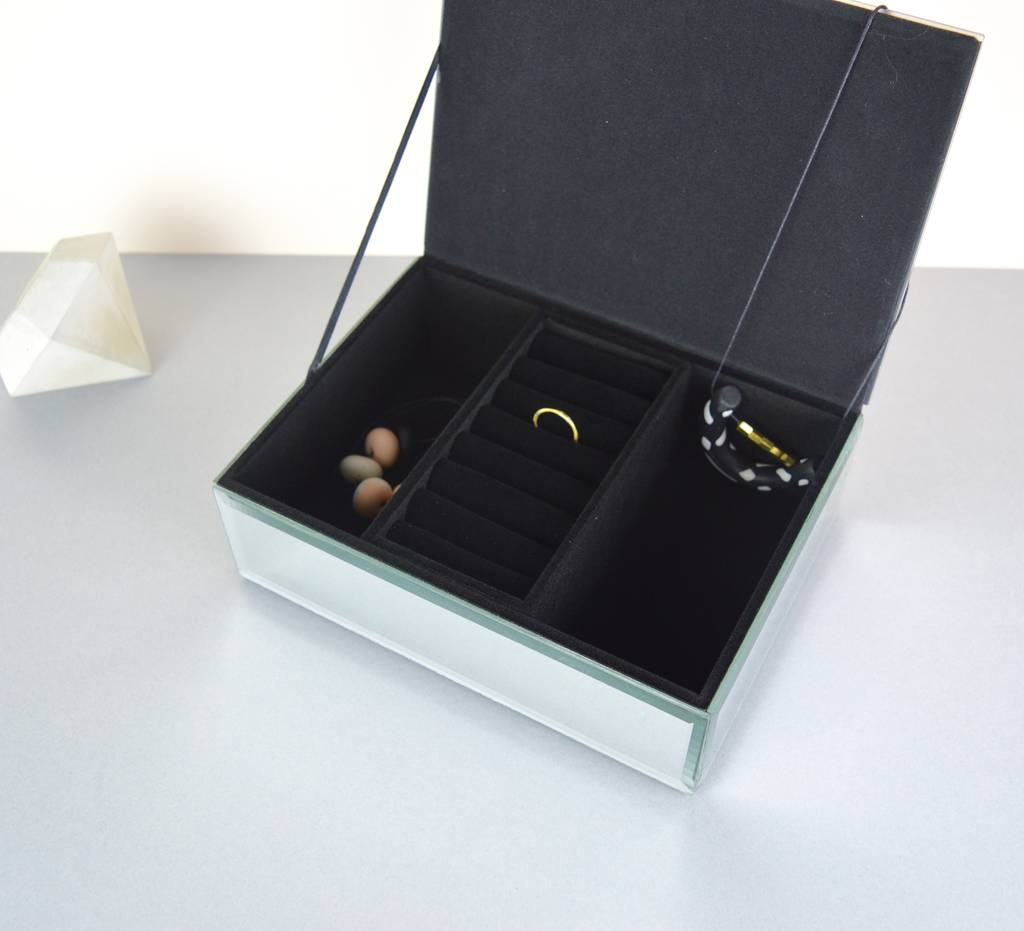 Large mirror jewellery box by not a jewellery box for Mirror jewellery box
