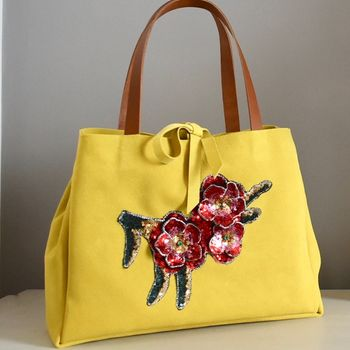 Suede Flower Bag