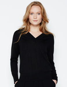 Merino Wool V Neck Jumper - tops & t-shirts