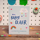 Personalised Hello Baby Boy Card