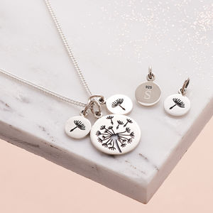 Personalised Family Dandelion Wish Necklace - for new mums