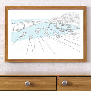 Mousehole, Cornwall Signed Print