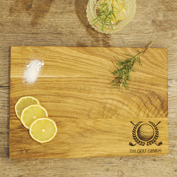 Personalised Golf Chopping Board Gift