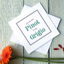 Personalised Pino Grigio Card