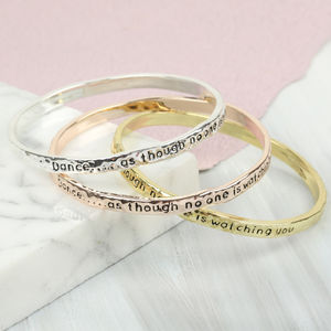 'Dance' Meaningful Word Bangle - bracelets & bangles