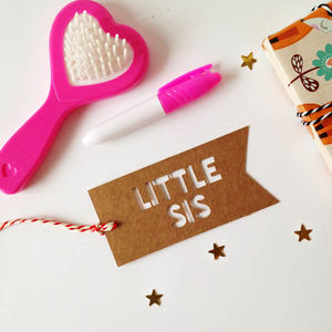 Little Sister Gift Tag