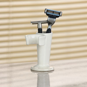 Ceramic Shaving Brush Stand And Razor Holder - shaving