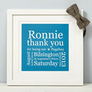 Personalised Pageboy Thank You Print