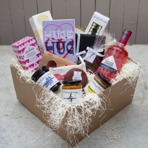 'Huge Hug' Deluxe Hamper With Rhubarb Gin