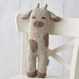 Curtis Cow Soft Knit Toy - the 'no pink or blue' children's collection