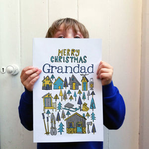 Personalised Big Scandinavian Christmas Card Design - cards sent direct