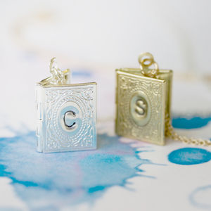 Personalised Mini Book Locket - necklaces & pendants