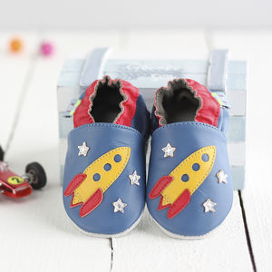 Rocket Soft Leather Baby Shoes - more
