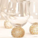 Set Of Four Glitzy Diamante Wine Glasses