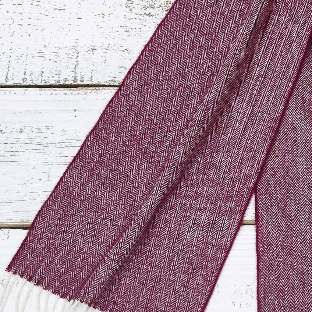 mulberry plum  extra long scarf mulberry plum merino by tolly mcrae ...