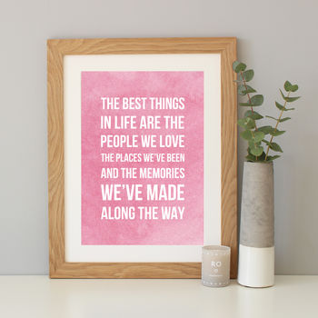 'The Best Thing' Watercolour Quote Print