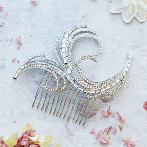 Allete Crystal Hair Comb - wedding fashion