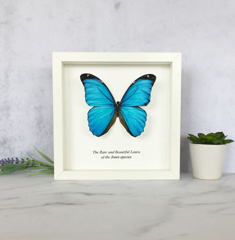 personalised paper butterfly artwork framed print by brambler ...