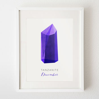 December - Tanzanite - framed