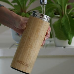 Reusable Sustainable Bamboo Water Bottle - kitchen