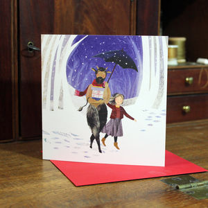 Mr Tumnus And Lucy Christmas Cards