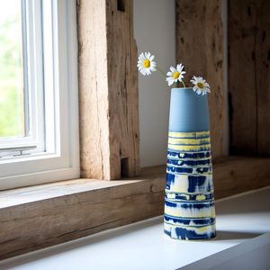 Handmade Ceramic Large Stem Vase Coast Series