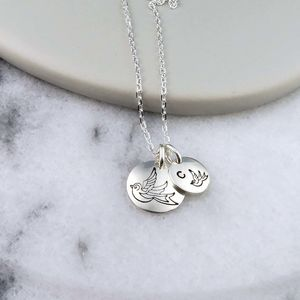 Family Bird Necklace Sterling Silver