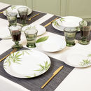 Botanical Leaf Etched Dinner Service