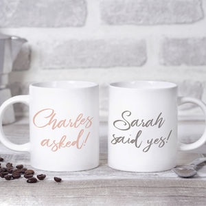 Personalised Engagement Mugs
