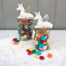 Unicorn Jar With Chocolate Beans