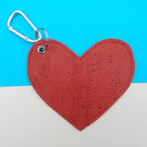 Heart Cork Leather Poo Bag Holder