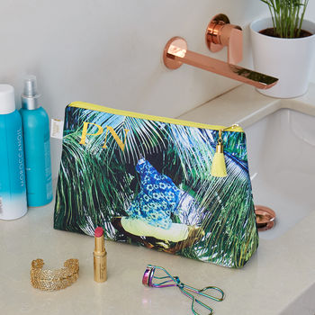 Personalised Tropical Palm 'Weekend Away' Wash Bag