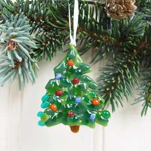 Handmade Glass Christmas Tree Decoration